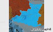 Political Map of Sancti Spiritus, darken