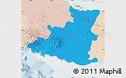 Political Map of Sancti Spiritus, lighten