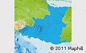 Political Map of Sancti Spiritus, physical outside