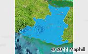 Political Map of Sancti Spiritus, satellite outside