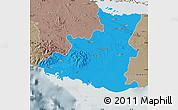 Political Map of Sancti Spiritus, semi-desaturated