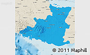 Political Map of Sancti Spiritus, shaded relief outside
