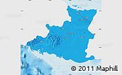Political Map of Sancti Spiritus, single color outside