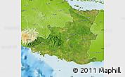 Satellite Map of Sancti Spiritus, physical outside