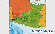 Satellite Map of Sancti Spiritus, political outside