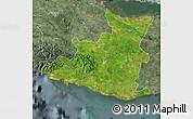 Satellite Map of Sancti Spiritus, semi-desaturated