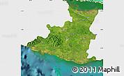 Satellite Map of Sancti Spiritus, single color outside