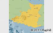 Savanna Style Map of Sancti Spiritus, single color outside