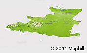 Physical Panoramic Map of Sancti Spiritus, cropped outside