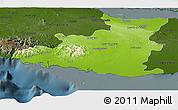 Physical Panoramic Map of Sancti Spiritus, darken