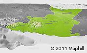 Physical Panoramic Map of Sancti Spiritus, desaturated
