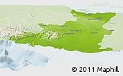 Physical Panoramic Map of Sancti Spiritus, lighten