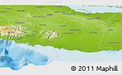 Physical Panoramic Map of Sancti Spiritus