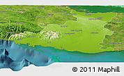 Physical Panoramic Map of Sancti Spiritus, satellite outside
