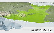 Physical Panoramic Map of Sancti Spiritus, semi-desaturated