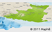 Physical Panoramic Map of Sancti Spiritus, shaded relief outside