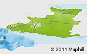 Physical Panoramic Map of Sancti Spiritus, single color outside