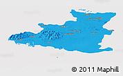 Political Panoramic Map of Sancti Spiritus, cropped outside