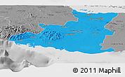 Political Panoramic Map of Sancti Spiritus, desaturated