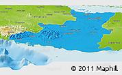 Political Panoramic Map of Sancti Spiritus, physical outside