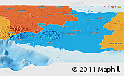Political Panoramic Map of Sancti Spiritus
