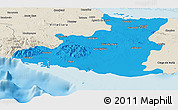Political Panoramic Map of Sancti Spiritus, shaded relief outside