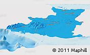 Political Panoramic Map of Sancti Spiritus, single color outside
