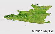 Satellite Panoramic Map of Sancti Spiritus, cropped outside