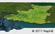 Satellite Panoramic Map of Sancti Spiritus, darken
