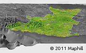 Satellite Panoramic Map of Sancti Spiritus, desaturated