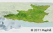 Satellite Panoramic Map of Sancti Spiritus, lighten