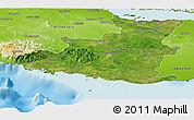 Satellite Panoramic Map of Sancti Spiritus, physical outside