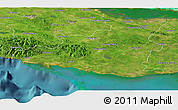 Satellite Panoramic Map of Sancti Spiritus
