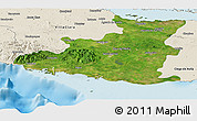 Satellite Panoramic Map of Sancti Spiritus, shaded relief outside