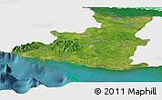 Satellite Panoramic Map of Sancti Spiritus, single color outside