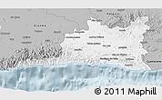 Gray 3D Map of Santiago de Cuba