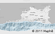 Gray 3D Map of Santiago de Cuba, single color outside