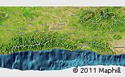 Satellite 3D Map of Santiago de Cuba