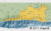 Savanna Style 3D Map of Santiago de Cuba