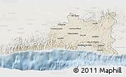 Shaded Relief 3D Map of Santiago de Cuba, lighten