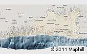 Shaded Relief 3D Map of Santiago de Cuba, semi-desaturated