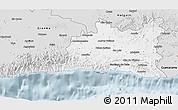 Silver Style 3D Map of Santiago de Cuba