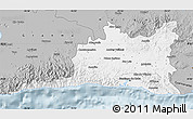 Gray Map of Santiago de Cuba