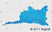 Political Map of Santiago de Cuba, cropped outside