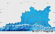 Political Map of Santiago de Cuba, single color outside