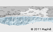 Gray Panoramic Map of Santiago de Cuba