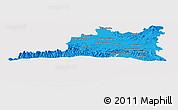 Political Panoramic Map of Santiago de Cuba, cropped outside
