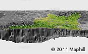 Satellite Panoramic Map of Santiago de Cuba, desaturated
