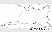 Blank Simple Map of Santiago de Cuba, no labels