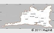 Gray Simple Map of Santiago de Cuba, cropped outside